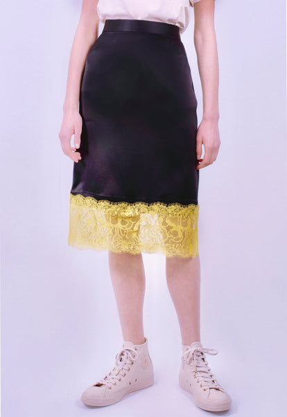 Black Pearl Neon Seaweed Lace Skirt