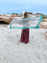 Load image into Gallery viewer, Foulard Turquoise stripe