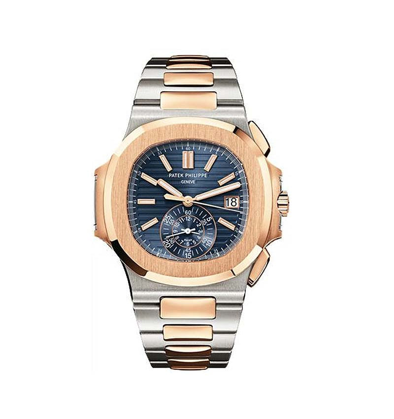 Nautilus Mens Steel and Gold Ref: 5980/1AR-001