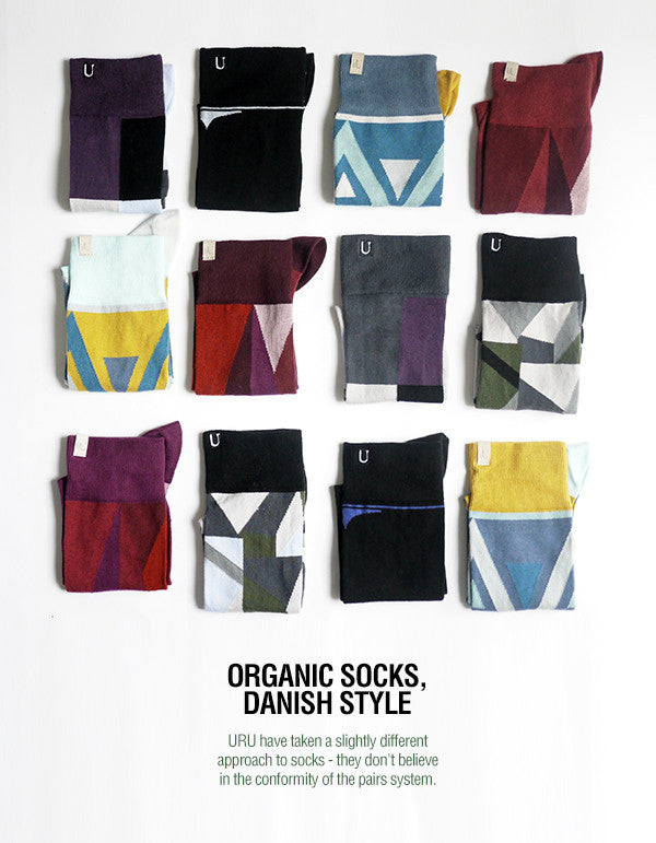 URU Design organic socks