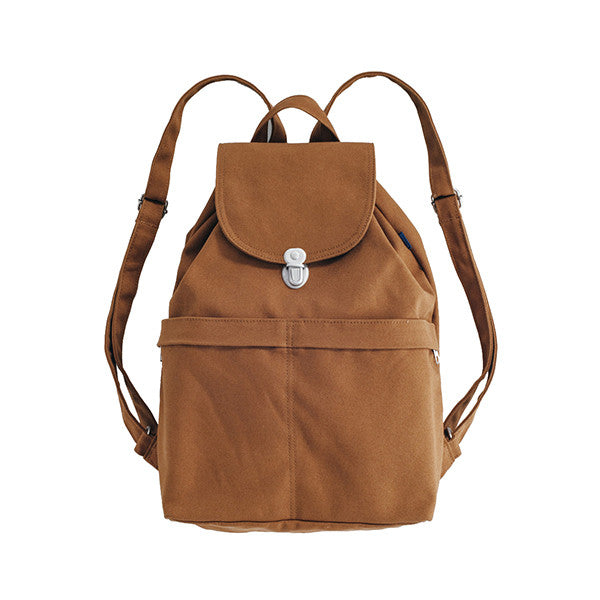 Rucksack Recycled Canvas Bag - Chestnut