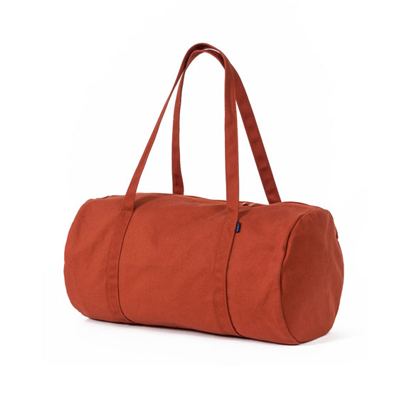 Recycled Canvas Duffel Bag - Rust