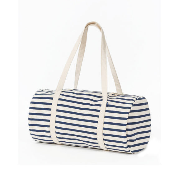 Recycled Canvas Duffel Bag - Blue Stripe
