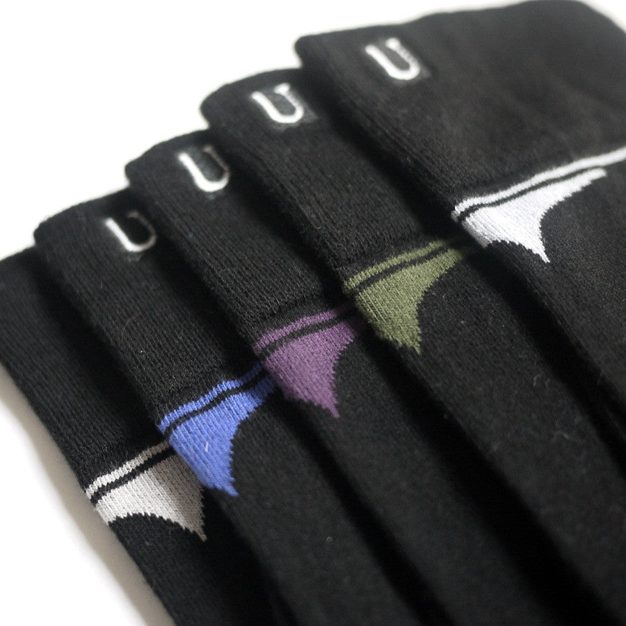 URU Organic Socks -  BLACKIES