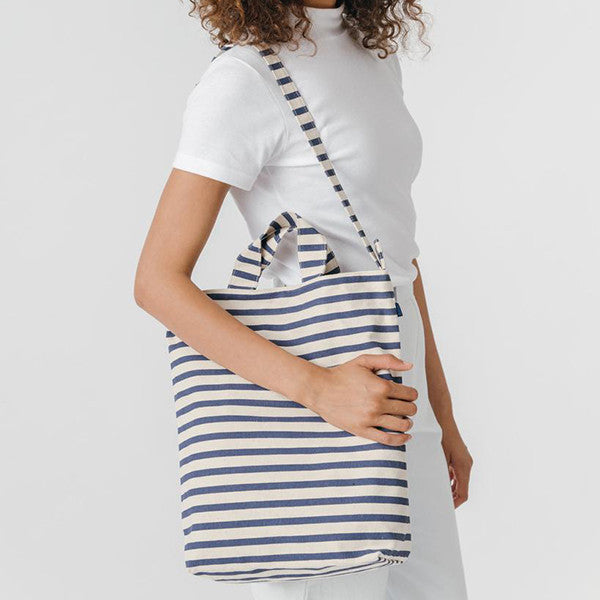 Tote Recycled Canvas Bag - Sailor Stripe