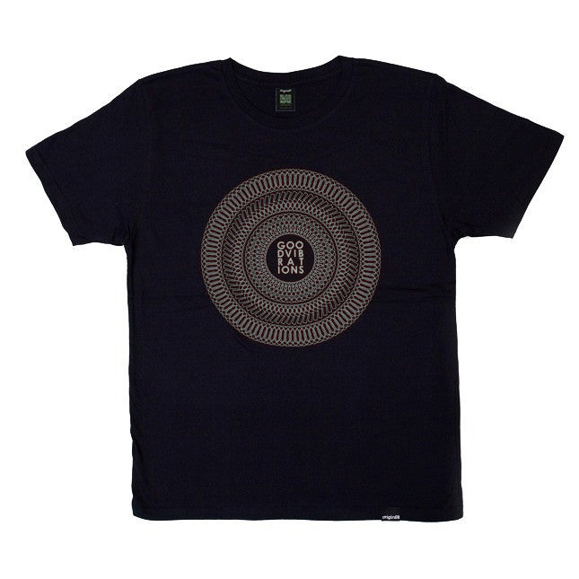Good Vibrations T-shirt - Navy/Grey