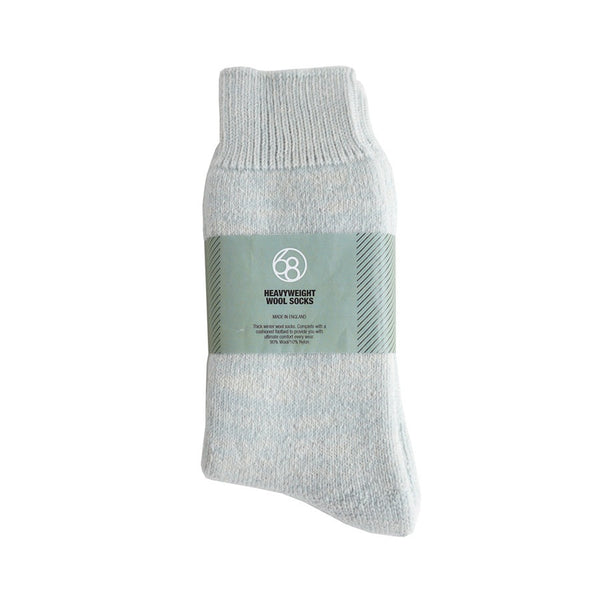 Heavyweight Wool Socks - Light Blue