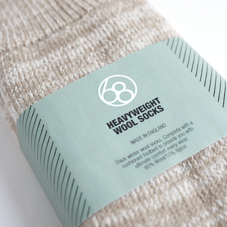 Heavyweight Wool Socks - Natural