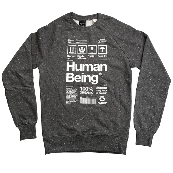 Human Being - Charcoal Speckle Sweatshirt