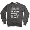 Human Being Sweatshirt - Charcoal Speckle