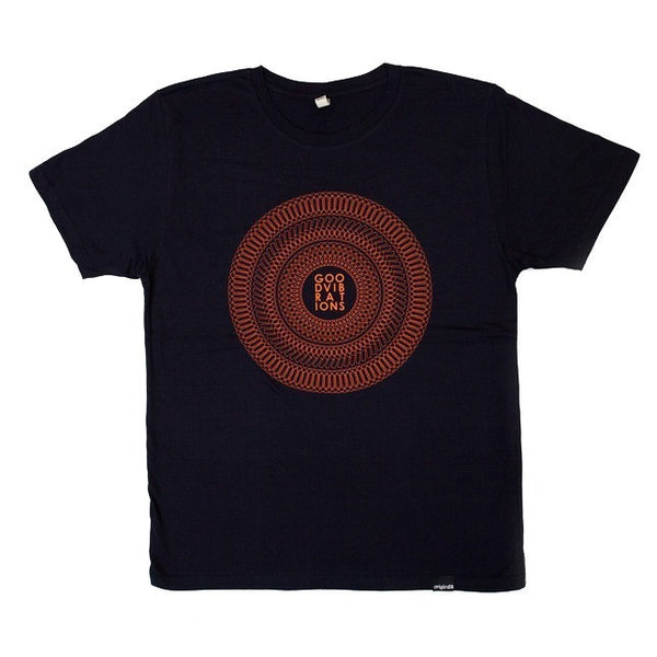 Good Vibrations T-shirt - Navy/Orange