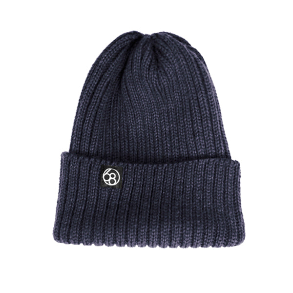 Wool Beanie Hat - Navy Blue