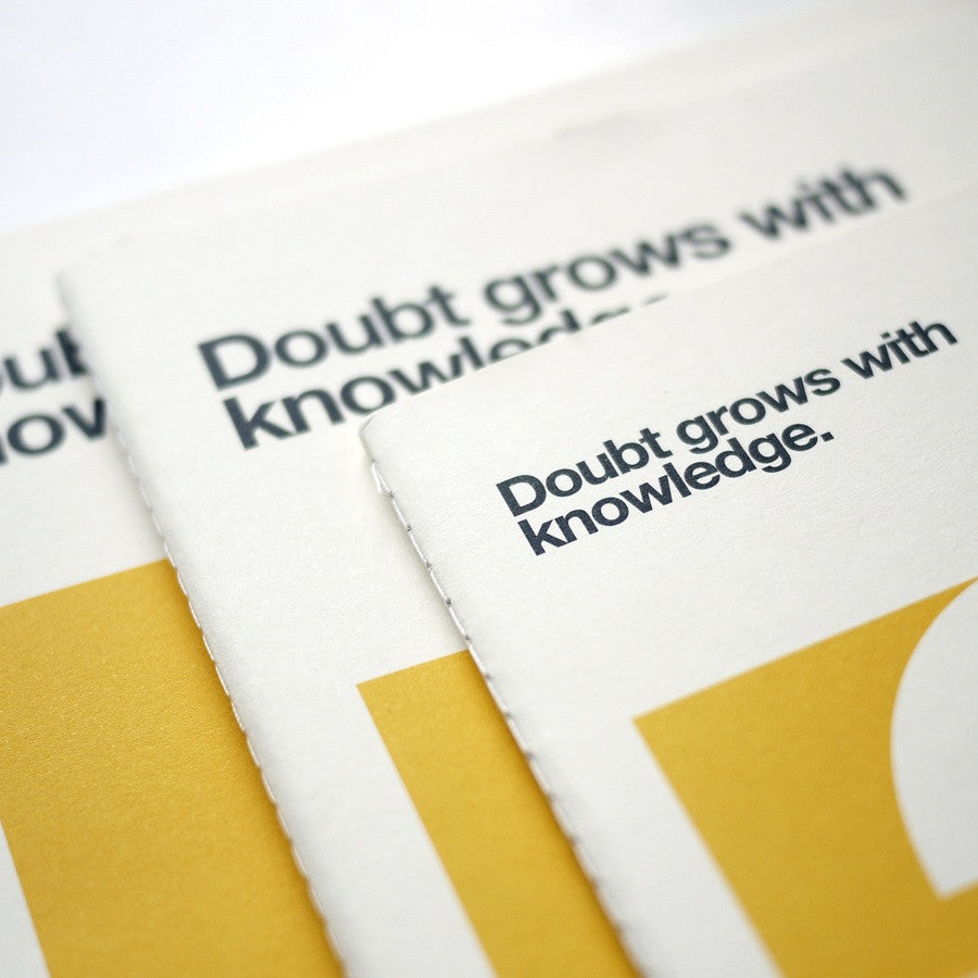 Quotes 'Doubt' Notebook
