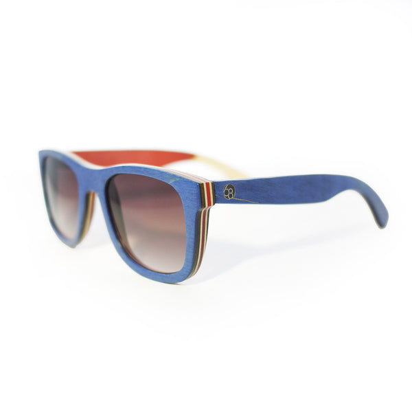 Repurposed Skateboard Sunglasses - Ultramarine/Orange