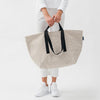 Weekend Recycled Canvas Bag - Natural Grid