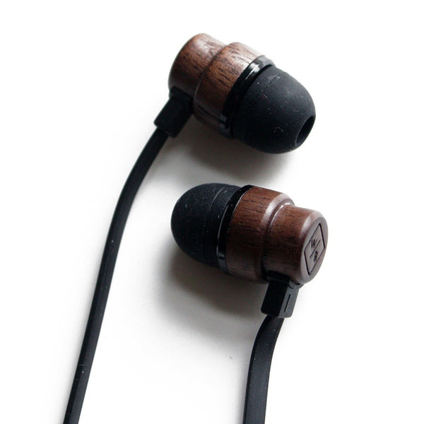 Wooden Earphones - Black