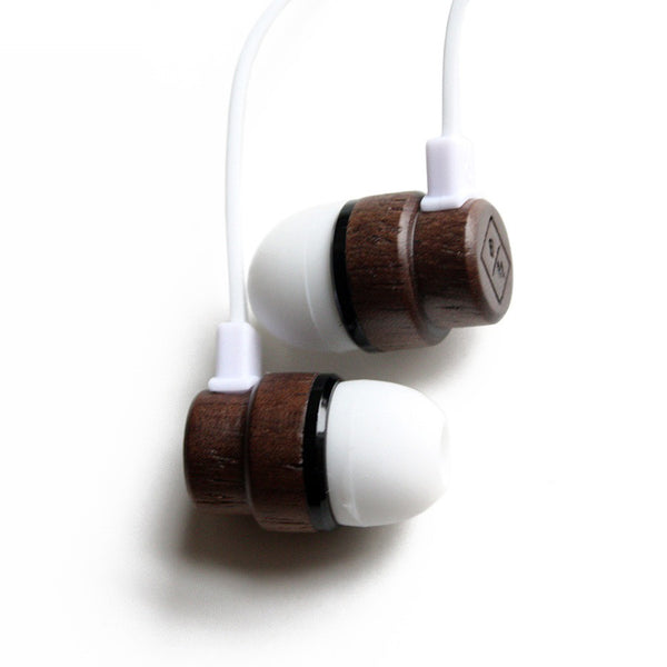 Wooden Earphones - White