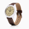 Q&Q Solar Power Watch - Brown/Tan