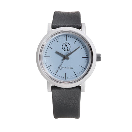 Q&Q Solar Power Watch - Grey/Light Blue