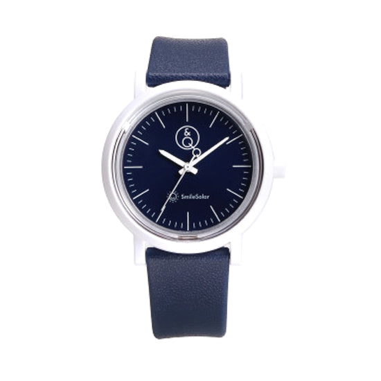 Q&Q Solar Power Watch - Navy Blue/White