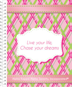 notebooks for alpha kappa alpha live your life chase your dreams use this notebook to organize your notes during meetings