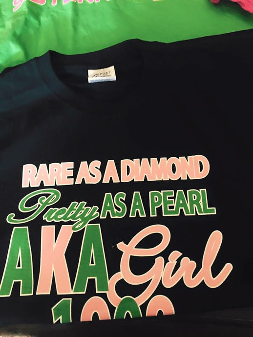 AKA Alpha Girl T-Shirt  (Black) NEW