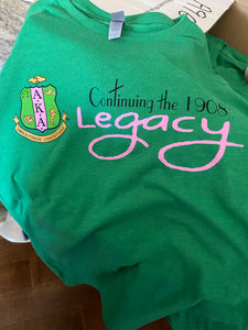 AKA Legacy T-Shirt (Green) NEW