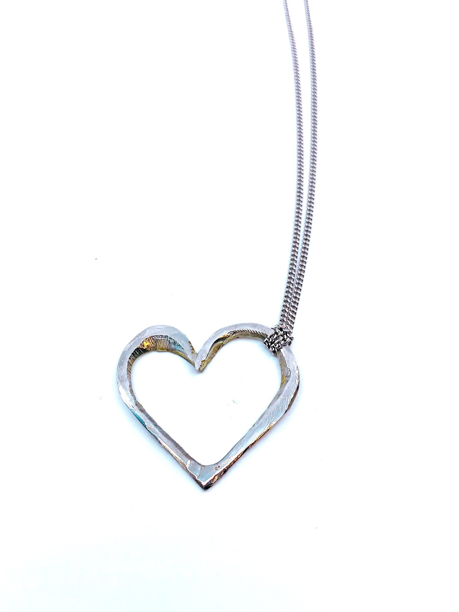 Heart with Curb Link Chain