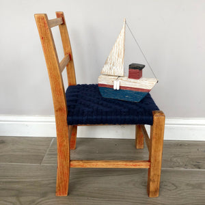 One of a kind Hand Woven Keep-Sake Child's Chair