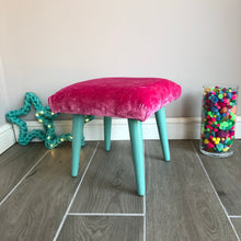 """Watermelon"" Woven Felted Wool Footstool"