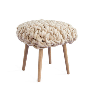 "The ""Hermia"" Hand Woven Merino Wool Footstool"