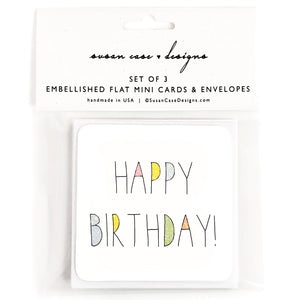 Birthday Enclosure Cards / Mini Cards / Birthday Cards / Birthday Gift Tags