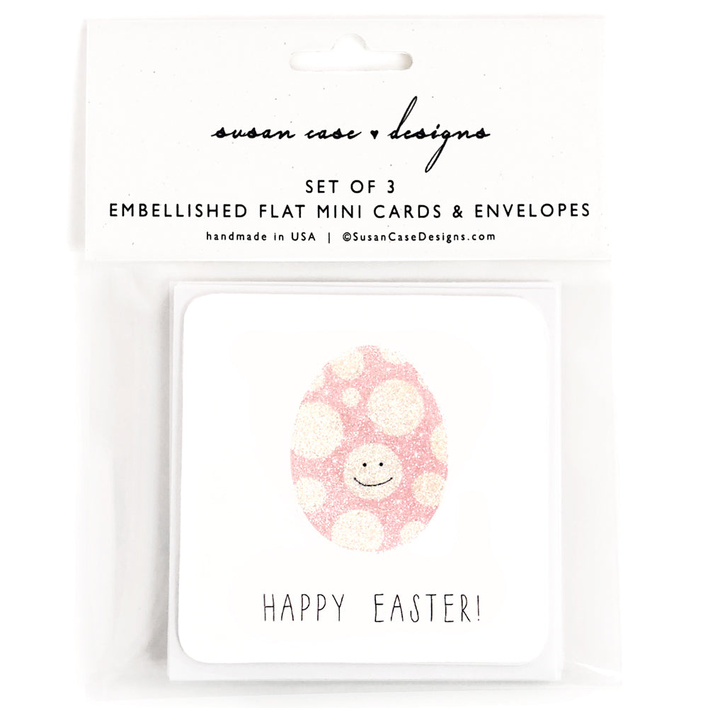 easter egg mini cards with envelopes, gift tags