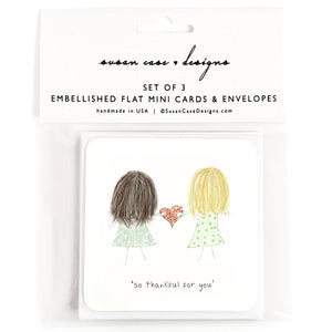 Gift Enclosure Cards for Sister, Best Friend, Maid of Honor, Bridesmaid by Susan Case Designs