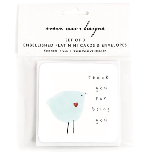 Thank You Mini Cards / Thank You Cards Set / Gift Enclosure Cards / Thank You Gift Tags / Friendship Cards