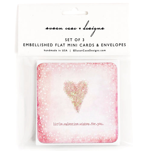 Valentines Enclosure Cards / Valentines Day Gift Tags | Susan Case Designs