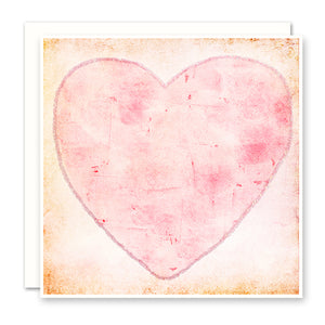 Pink Rustic Heart Card