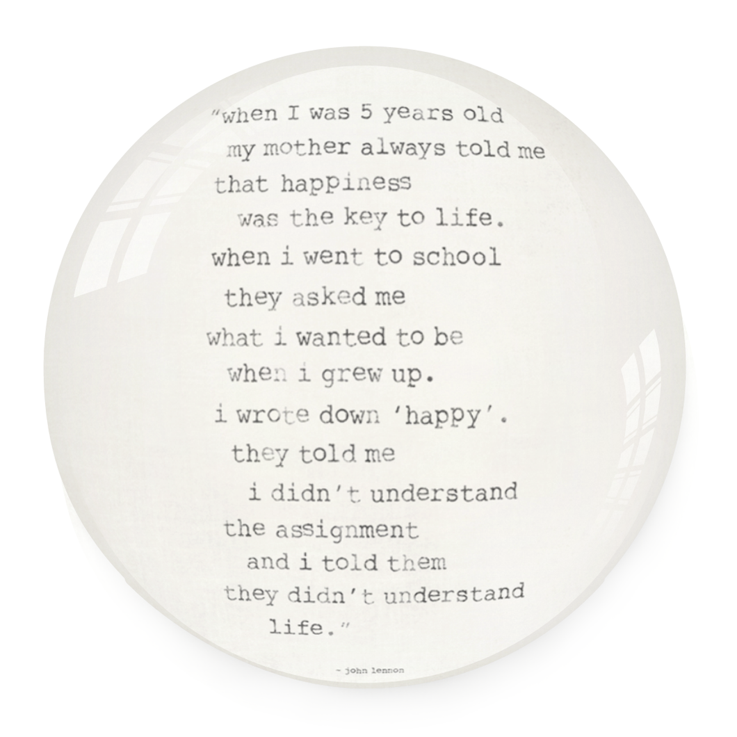 Paperweight - When I was Five Years Old