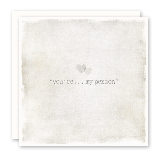 You Are My Person - Card For Best Friend, Love Card, Blank Inside