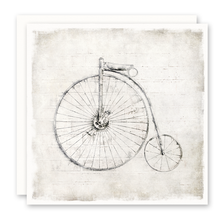 Load image into Gallery viewer, Old Time Bicycle, Bike, Blank Inside, Square, Notecard