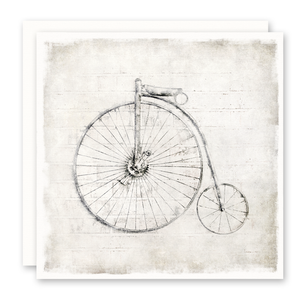 Old Time Bicycle, Bike, Blank Inside, Square, Notecard