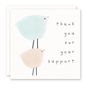 Thank You Card - Support - Blank Inside