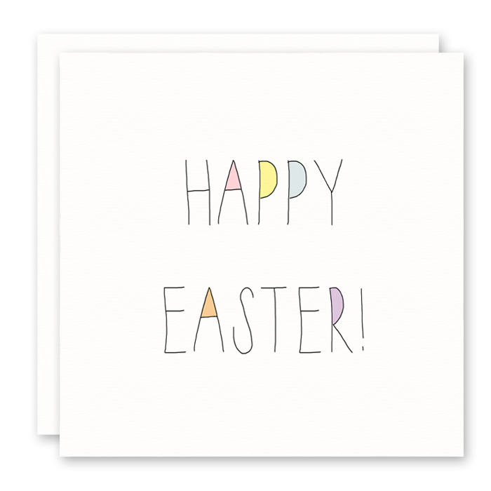 Happy Easter Card that is colorful and for anyone