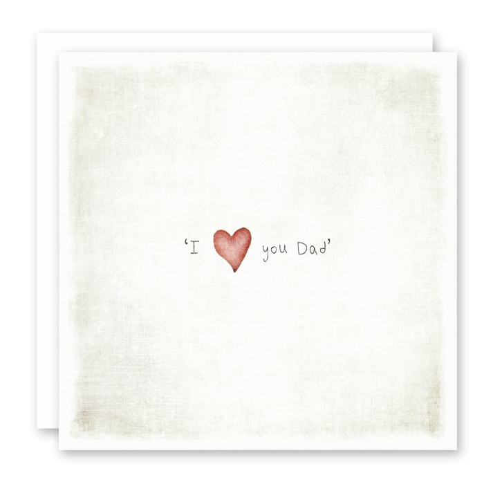 I Love You Dad Greeting Card, Father's Day, Thank You Dad by Susan Case Designs