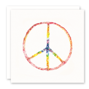 Greeting Cards | Rainbow Peace Sign | Susan Case Designs