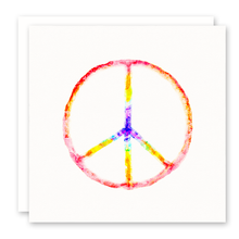Load image into Gallery viewer, Rainbow Peace Sign Greeting Card | Susan Case Designs