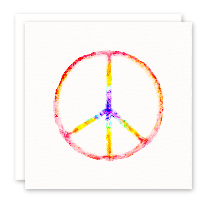Rainbow Peace Sign Greeting Card | Susan Case Designs