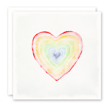 Load image into Gallery viewer, Rainbow Heart Card