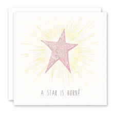 Load image into Gallery viewer, Girl Baby Cards | A Star is Born | Susan Case Designs