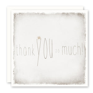 Thank You Card - thank you so much, blank inside, square